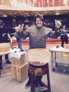 Cracking Parmigiano Reggiano in Austin. Love your raw milk cheese. Cathy