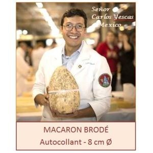 Grand Macaron brodé Guilde