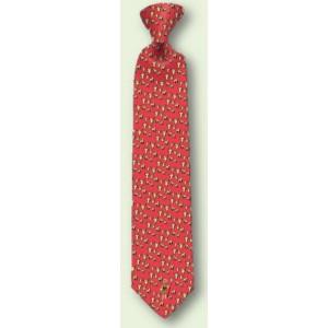 Cravate en soie rouge du Fromager
